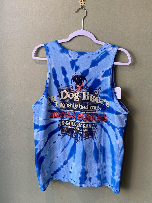 Tie Dye Juana's Pagodas Tank Top, Size M