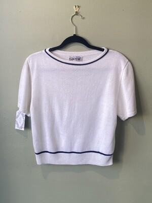 Vintage San Remo Short-sleeve Sweater, Estimated Size Petite S