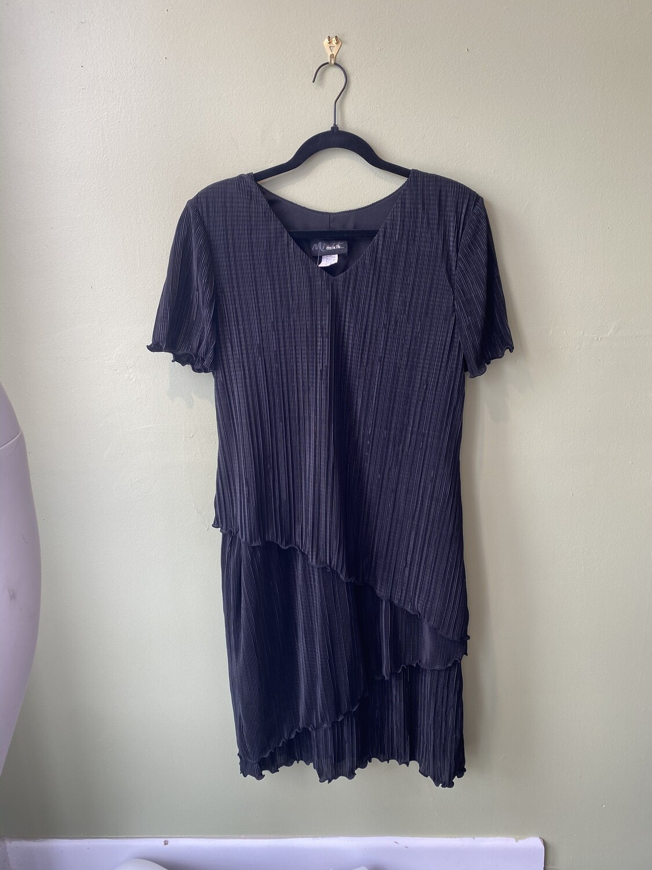Vintage Mixik Flapper-Inspired Blue Dress, Size 10
