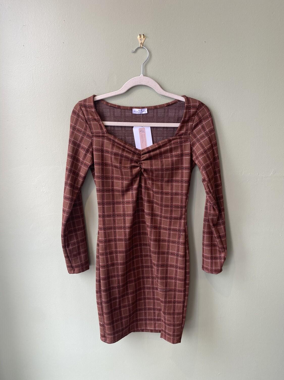 Rebellious Dreamer 90s-Inspired Mini Dress with Sweetheart Neckline, Size S