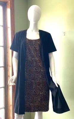 Vintage Worthington Cheetah Dress & Coat Duo, Size 16