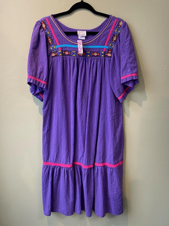 Purple Appel House Dress, Size M