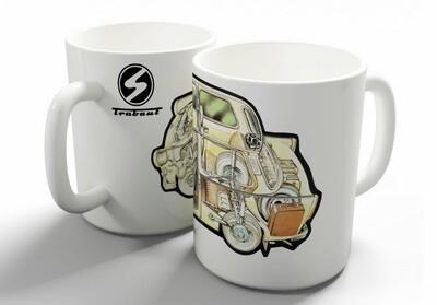 Trabant 601 Workshop Drawing Coffee Mug