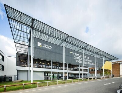 Visit to the University of Suffolk and The Hold on Wed 1 September 2021