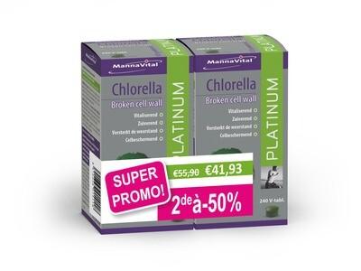 Mannavital duopack chlorella 2x240 tabletten