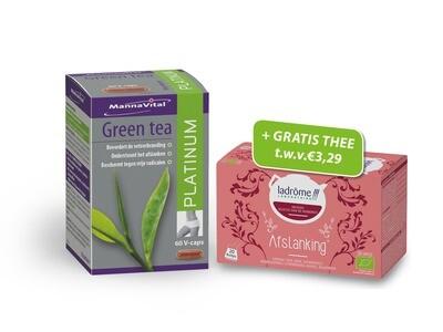 Mannavital green tea + afslankingsthee gratis