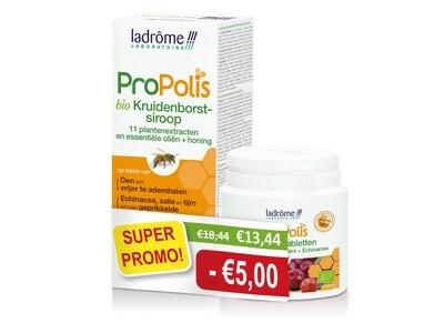 Ladrome: Duopack bio propolissiroop + kauwtabletten acerola echinacea