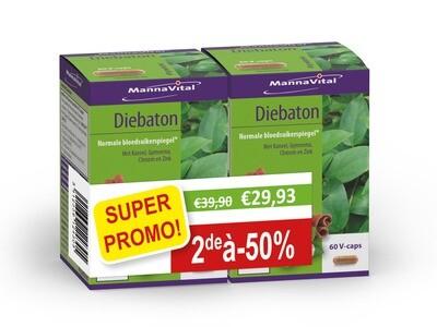 Mannavital DUOPACK: DIEBATON 2 X 60 V-caps. = 2de aan halve prijs!