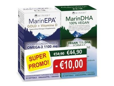 DUOPACK: MarinEPA GOLD 30 softgels + Marine DHA 60 vegicaps SUPER PROMO!