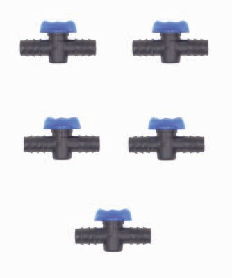 Straight connector with tap (set of 5)