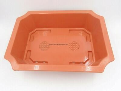 Rectangle Bonsai terraccota plastic pot ( 14 inch )