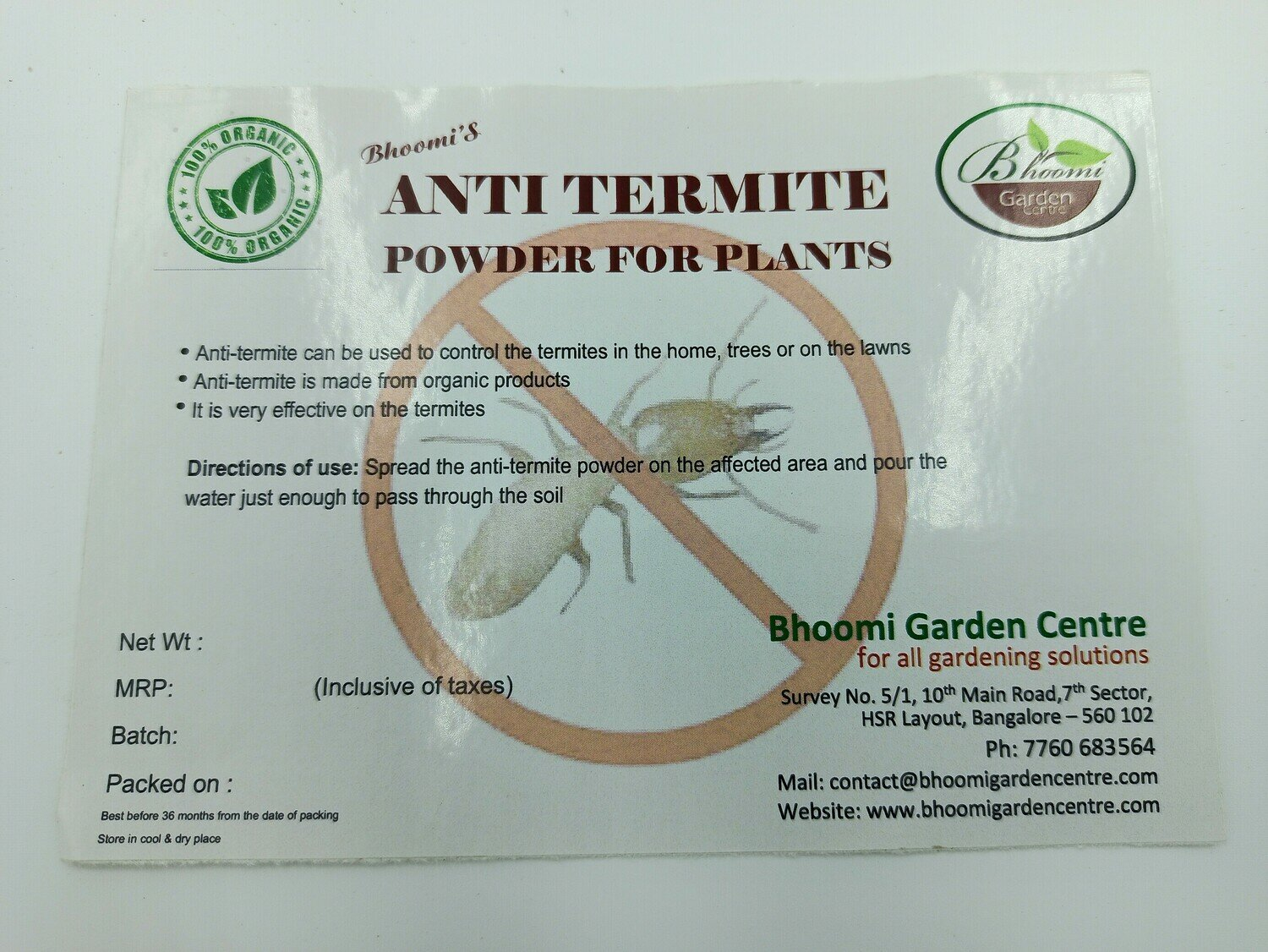 Anti termite powder ( 500 gms )