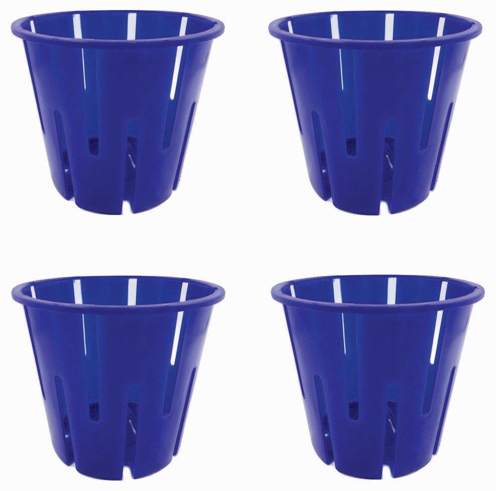 Avant blue orchid pot multiple colors(set of 4)