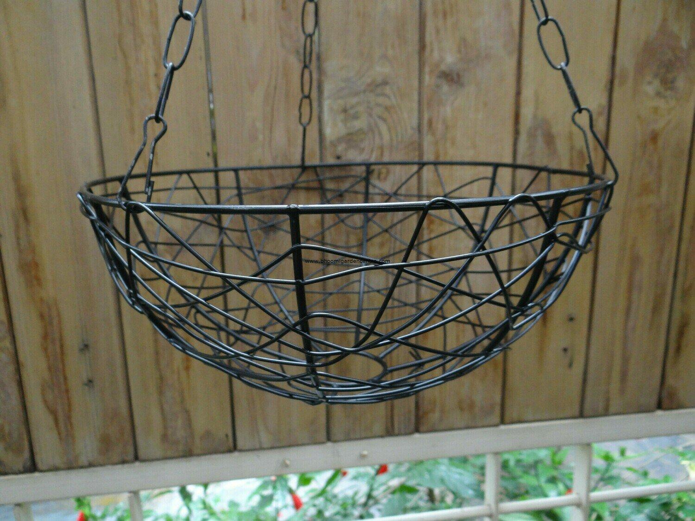 Metal hanging Birds nest 10 inch