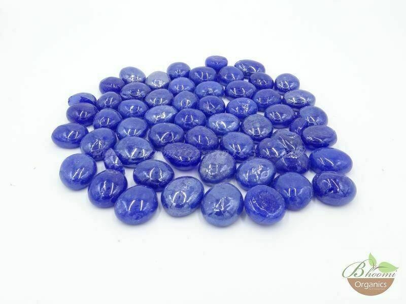 Onyx blue glass - 400 gms