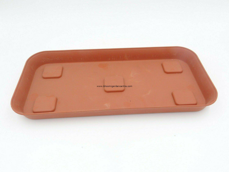 Rectangle terracota plastic plate ( 10 inch )