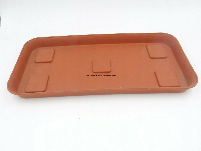 Rectangle terracota plastic plate ( 18 inch )