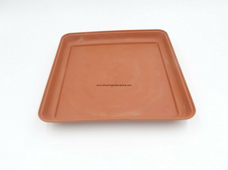 Square terracota plastic plate ( 8 inch )