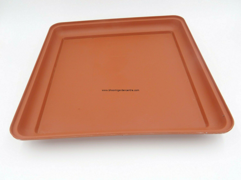 Square terracota plastic plate ( 14 inch )
