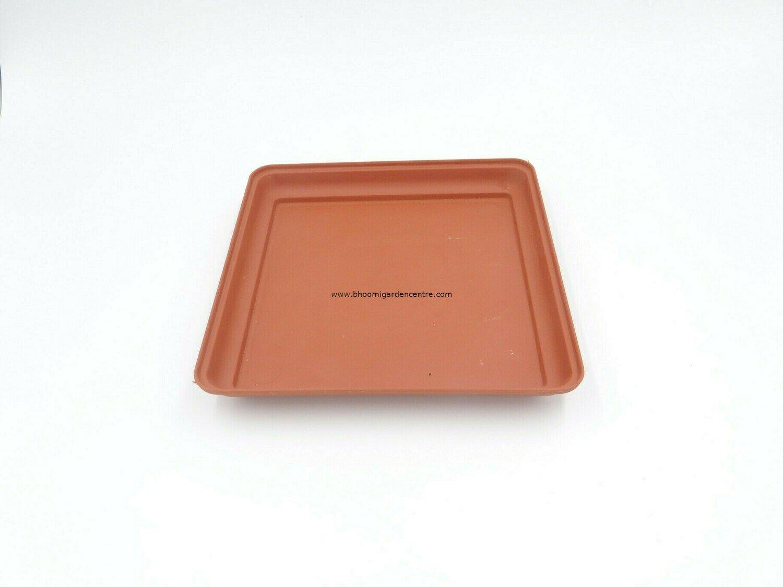 Square Terracota  plastic Plate ( 6 inch )
