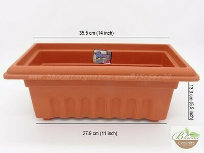 Rectangle terracotta pot GK 12 (14 inch)