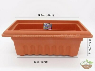 Rectangle terracotta pot GK 14 (16 inch)