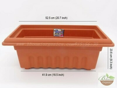 Rectangle terracotta pot GK 18 (20 inch)