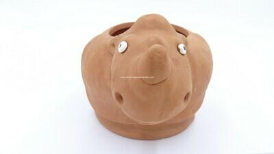 Terracotta clay pot - Rhino