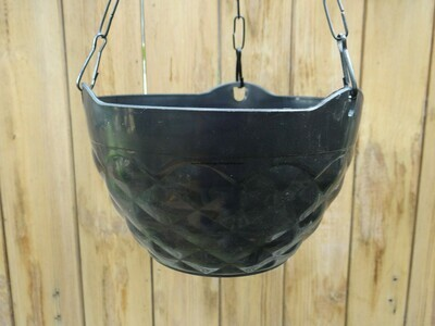Diamond hanging plastic pot 7.5 inch (multiple colors)