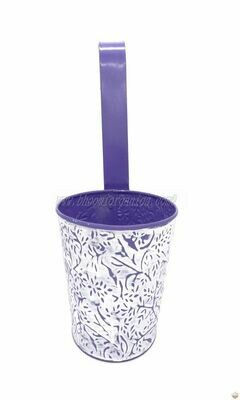 Metal hanging embossed pot 6 inch (multiple colors)