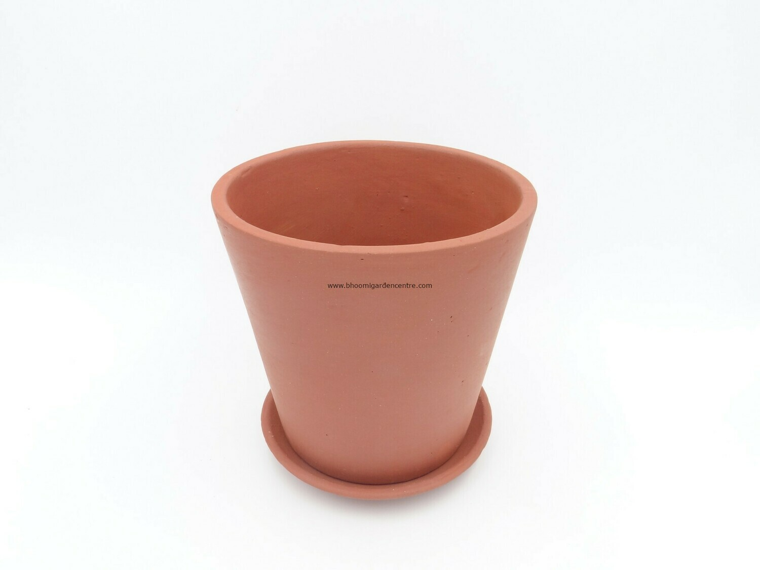 Terracotta regular with plate (6 inch)