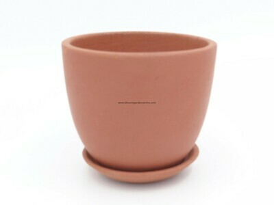 Terracotta cup with plate