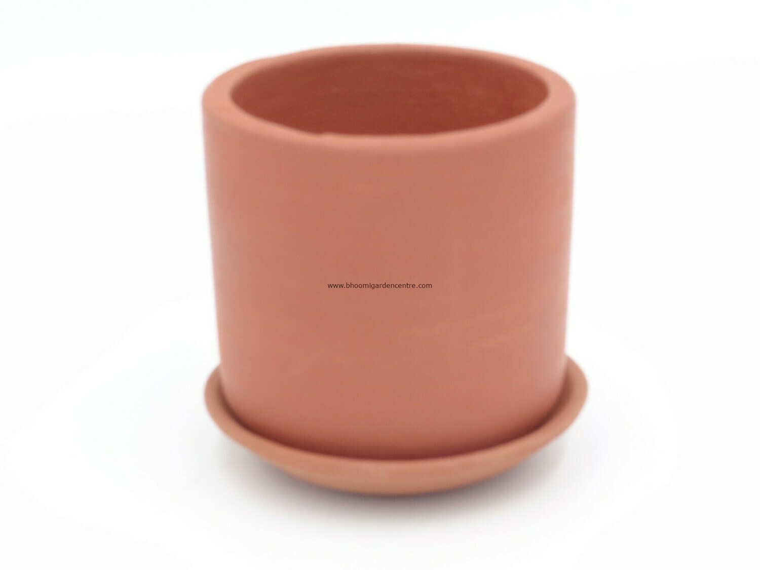 Terracotta cylindrical with plate