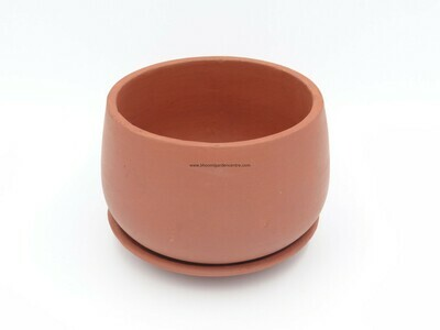 Terracotta Unami pot with plate