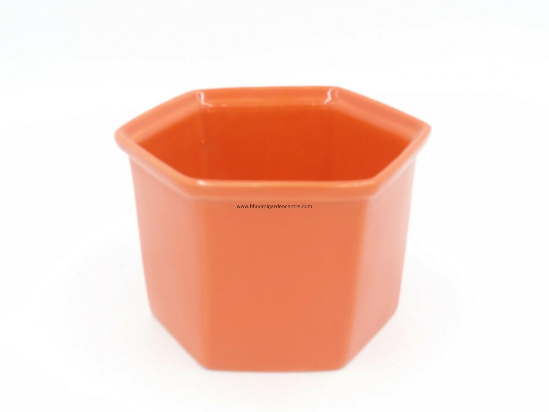 Hexa ceramic planter