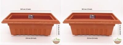 Rectangle terracotta plastic pot GK10  (12 inch)