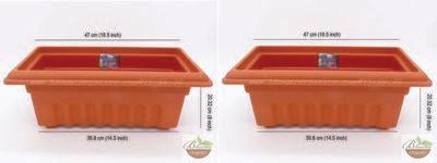 Rectangle terracott plastic pot GK16 (18 inch)