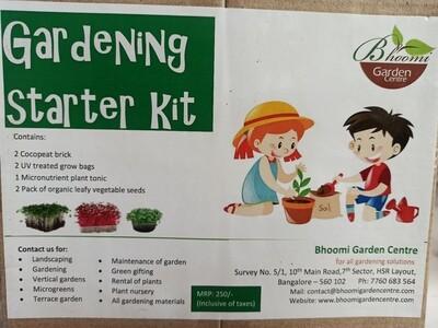 Gardening starter kit for kids