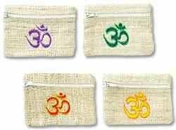 "Om Hemp Coins Bag Set - 4.5""x3.5"""