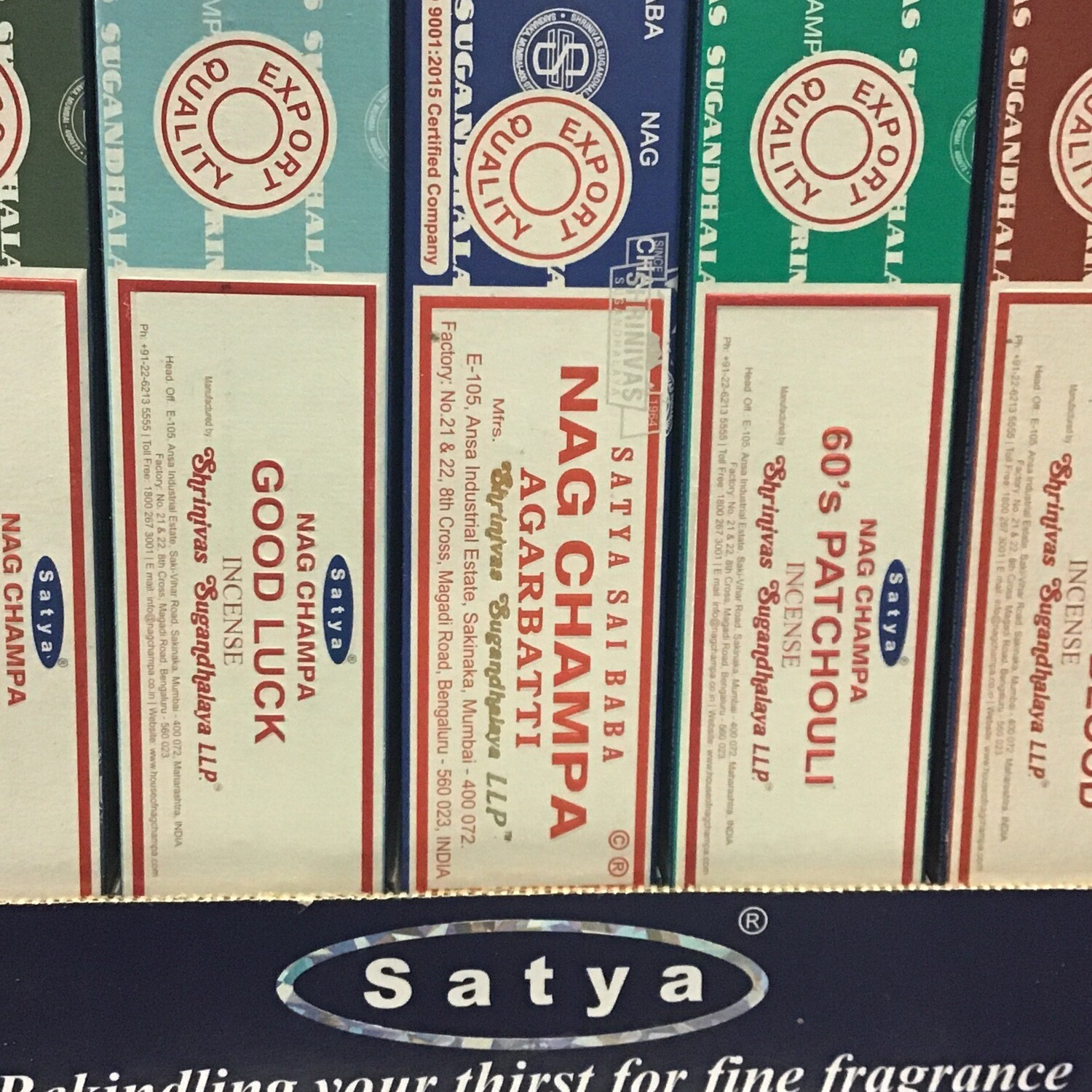 Satya incense 15g Boxes