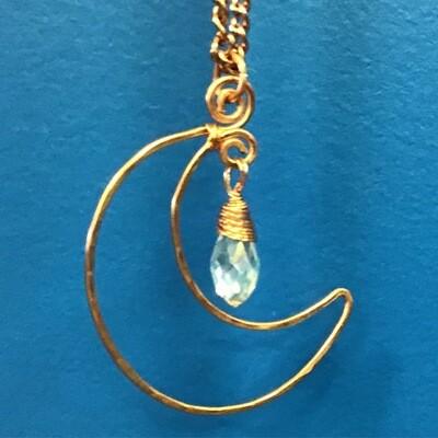 Copper Moon Drop pendant