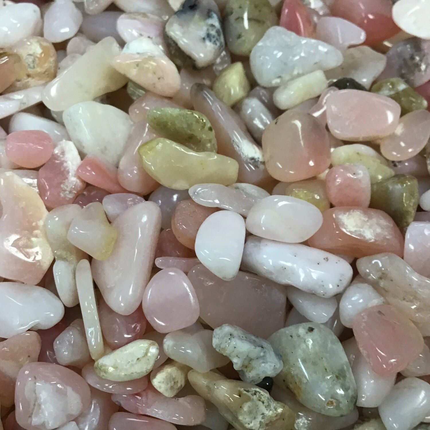 Pink Opal Chips priced per oz