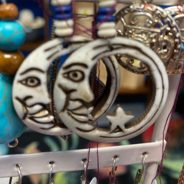 Starry Night Moon Earrings