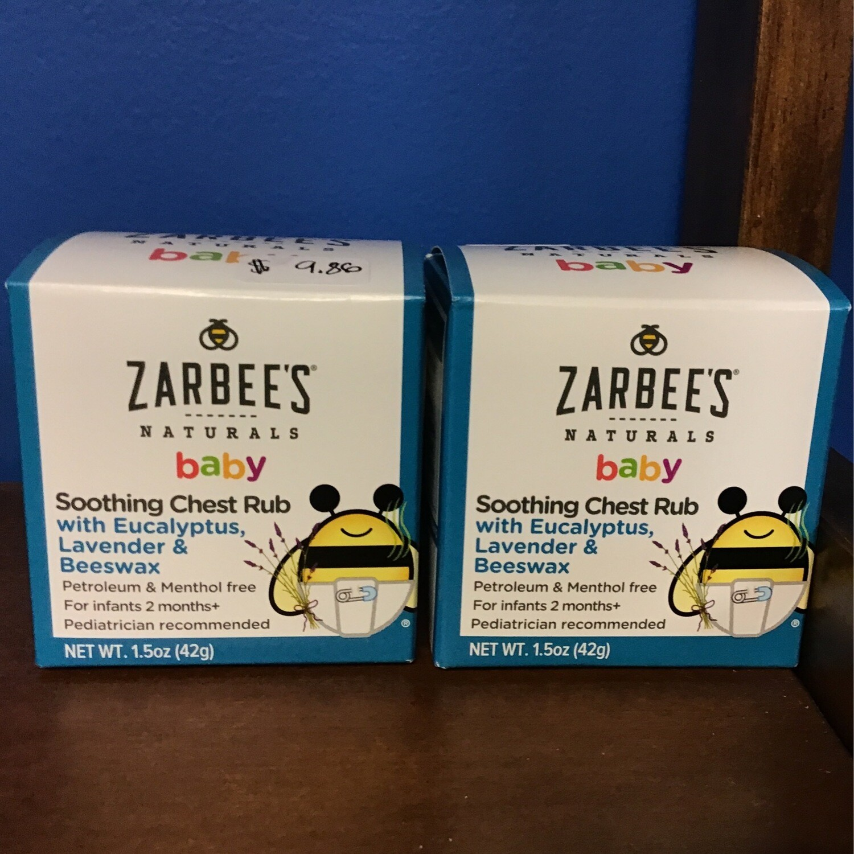 Zarabee's  Baby Chest Rub