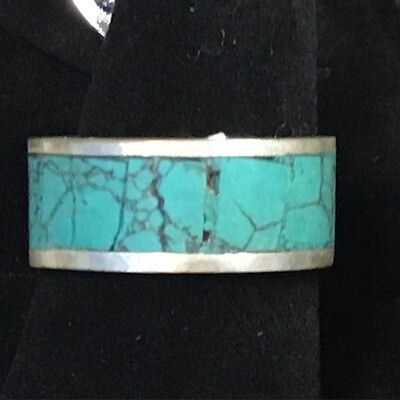Turquoise Stone Inlay Band