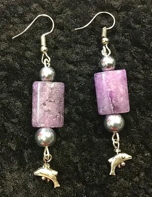 Dolphin Stone Earrings