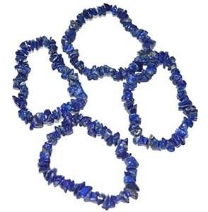 Lapis Lazuli Stretch Chip Bracelet