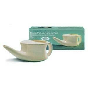 Nasal Cleansing Pot (Neti Pot), White
