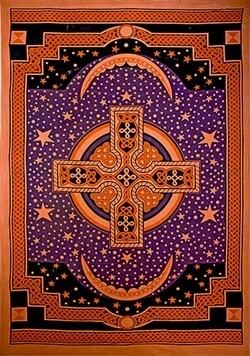 """Celtic cross Tapestry 69""""x108"""""""