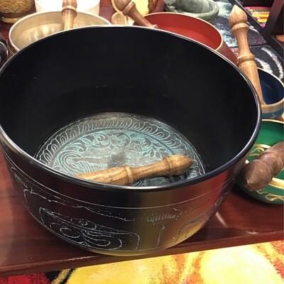 """Tibetan Singing Bowl 8"""" Deep"""